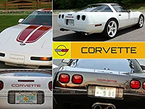 SF Sales USA - Red Front & Rear Bumper Letters fit Corvette C4 1984-1990 Plastic Inserts Not Decals