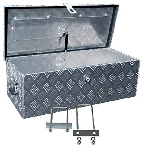 Truckbox D055 inkl. MON4002 Edelstahlhaus Werkzeugkasten, Deichselbox, Transportbox, Alubox, Alukoffer, Deichselkasten, inkl. Montagesatz, Montageset