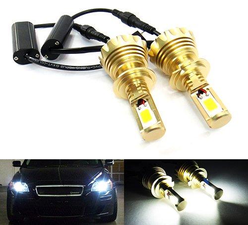 2 x Blanc H7 499 ampoule CANBUS COB LED 60 W 3000lm Phare veilleuses circulation diurnes DRL lampe de brouillard