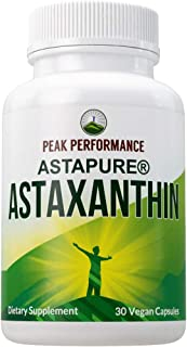 Astaxanthin Vegan Capsules. Made with AstaPure Organic Astaxanthin + 25 Organic Vegetables, Fruits, & Organic Coconut Oil ...