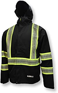 DEWALT Men's DRW11-1ZGR-L DRW11 Waterproof Lightweight Packable Raincoat-Size L, Multi, One