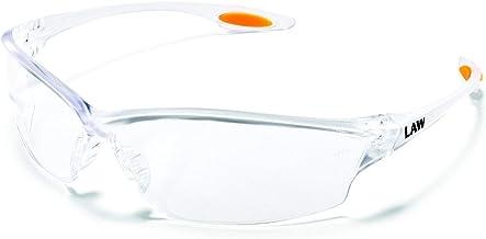 Crews LW210AF Law 2 Safety Glasses Clear Frame Clear Lens Anti-Fog 1 Pair