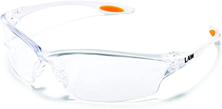 MCR LW210AF Crews Law 2 Safety Glasses Clear Frame Clear Lens Anti-Fog 1 Pair
