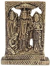Divya Mantra Hindu God Ram with Laxman Hanuman & Goddess Sita Darbar Sculpture Statue Brass Murti Puja Room, Temple, Meditation, Office, Business, Home Decor Table Item/Product-Money, Good Luck-Yellow