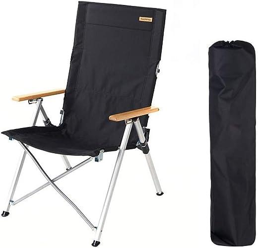 1949shop Chaise de Camping Pliante, Chaise de Camping en Acier pour Usage intensif rembourré pour extérieur, directeurs du Festival pêchant avec Sac de Transport (Couleur  Noir)