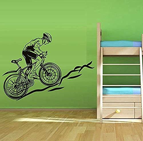Creativo Adesivi Murali Ciclismo Verso La Montagna Adesivi Murali In Vinile Bicicletta Dura Arte Carta Da Parati Autoadesiva Staccabile Camera Dei Bam