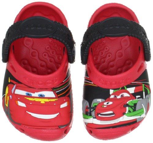 crocs Cars 2 TM Custom Clog 11431, Jungen Clogs & Pantoletten, Rot (Red/Black), EU 19-21 (UK C4-5)