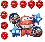 Super Wings Jett - Globos para fiesta de cumpleaños (13 unidades), color rojo