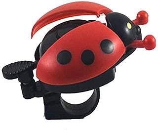 1 Pair Bicycle Ladybug Shaped Bell Ladybird Alarm Bike Metal Handlebar Horn, Red