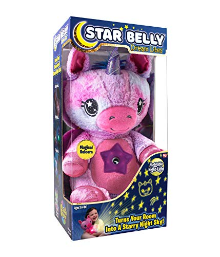 Ontel Star Belly Dream Lites Stuffed Animal Night Light Pink and Purple Unicorn