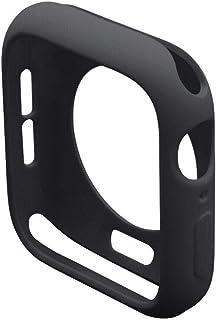 كفر حماية لساعة أبل 44 ملم, نحيف, مصنوع من السيليكون, أسود