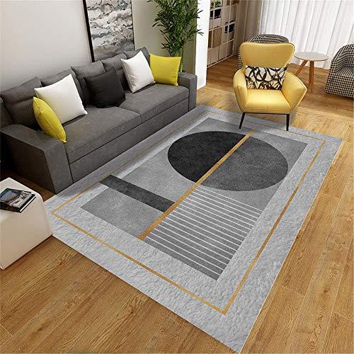 RUGMRZ Area Rugs For Living Room grey Carpet salon gray circular geometric pattern soft carpet anti-slip Small Carpet 200X300CM Carpet Small 6ft 6.7''X9ft 10.1''