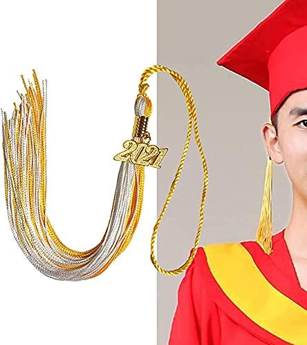 MWKL Borla de graduación de Lujo - Sombrero de graduación académico Borla La graduación Presenta Decoraciones de graduación 2021 para Todas Las Ceremonias de graduación