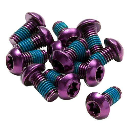 Reverse Bremsscheiben Befestigungs- Schrauben-Set 12 Stück M5x10mm lila