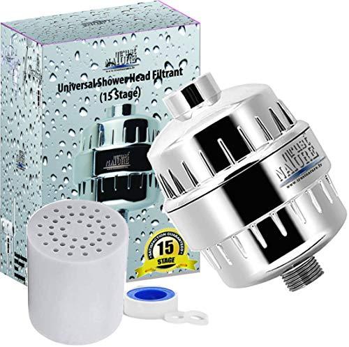 TrustNATURE Shower universal, filtro de ducha, reemplazable agua, grifo antical, casa eficaz que evita que el cabello y la piel se sequen, filtrante, casa, ducha antical