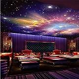 3D Murales Papel Pintado Pared Calcomanías Decoraciones Estrella Nebulosa Cielo Nocturno Techo Dormitorio De Viruela Fondo Galaxy Tema Art º Los Niños Dormitorios (W)200X(H)140Cm