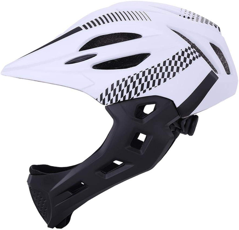 LIUDATOU Casque Complet de vélo de Montagne de Casque d'équilibre de vélo de Sport de sécurité de Casque de Sports Couvert de Descente de Scooter BMX