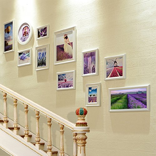 ZGP Home@Wall photo frame Photo wall staircase decoration Wall photo wall combo box Hallway corridor hanging picture wall (Color : A)