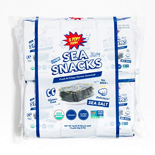 Premium Seaweed Snacks, 5 grams (Pack of 12) $4.99(50% Off after CODE)