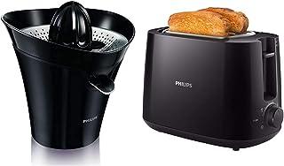 Philips HR2752/90 Presse-Agrumes Electrique- Noir et Gris & HD2581/90 Grille-Pains Noir