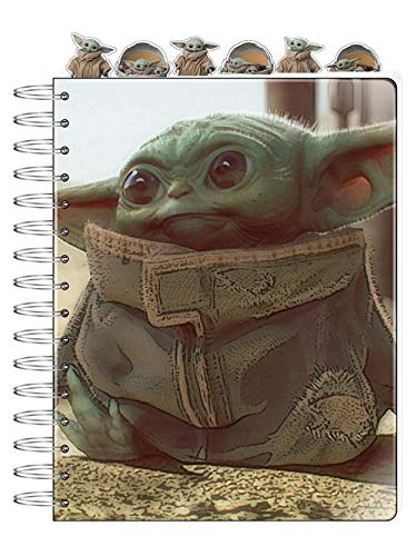Innovative Designs Baby Yoda Notebook Star Wars Mandalorian Tab Journal for Kids