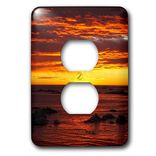 Duplex Receptacle Outlet Wallplate 1 Gang Outlet Covers Sunrise Kaikoura South Island New Zealand Classic Beadboard Wall Plate Decorator Unbreakable Faceplate