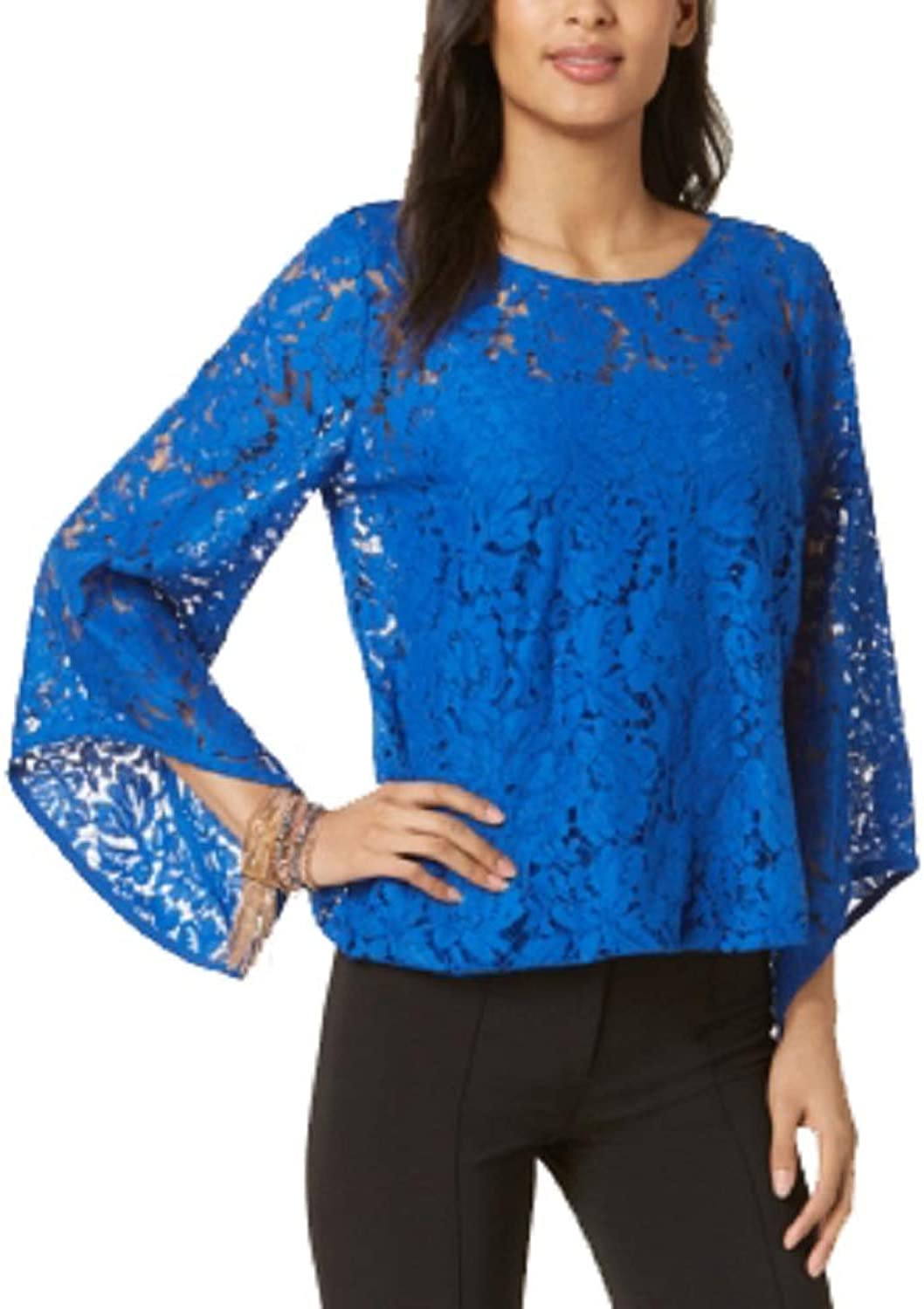 Alfani Petite Lace Bubble Top