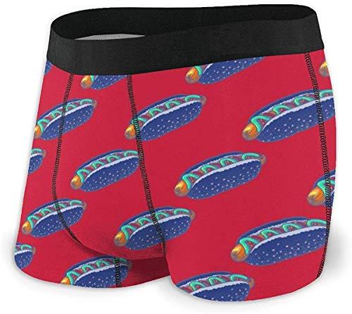 xianjing6 Herren Unterwäsche Boxershorts Blue Hot Dog Men's Quick Dry Performance Boxer Brief Lightweight Underwear