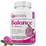 Hormone Balance & Menopause Relief for Women | 120 Capsules 2 Months of Hot Flash | Support for Women | Black Cohosh, Dong Quai, Sage, Red Clover, Licorice & Soy Isoflavones | Estrogen Pills for Women