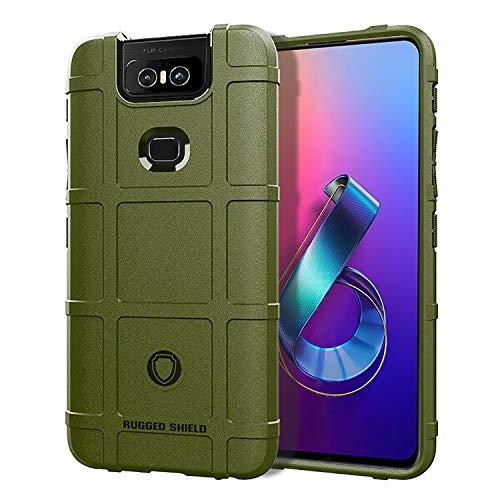 XunEda ASUS Zenfone 6 ZS630KL Cover Custodia, Scudi Serie Custodia in Silicone TPU Protettiva Antiurto Case Cover per ASUS Zenfone 6 ZS630KL Smartphone(Verde)