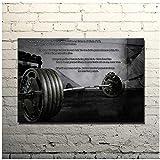 Citation de motivation de musculation Art Poster Print Gym Room Decor Fitness Sports Picture Cadeaux pour les parents et les amis -50x75cm sans cadre