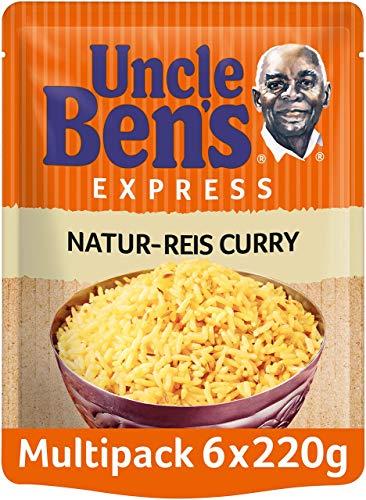Uncle Ben's Express-Reis Naturreis Curry, 6 Packungen (6 x 220g)