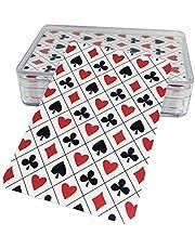 ورق لعب بلوت او كوتشينة مع محفظة بلاستيكية