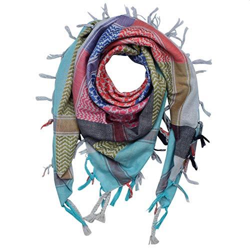 Superfreak Palituch - bunt-mehrfarbig 09-100x100 cm - Pali Palästinenser Arafat Tuch - 100% Baumwolle