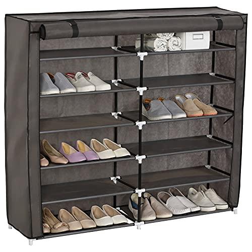 Dirgee Estante de Zapatos Alto con 2 cajones, estantes de 10 Niveles Organizador de Almacenamiento de pie para Zapatos de 30 Pares (Color : Beige, Size : 60 x 175 x 29 cm)