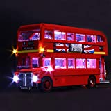 ZJJ Kit de iluminación LED Adecuado para Lego London Bus, Equipo de iluminación USB Compatible con Lego 10258 Modelo de Bloques de construcción (no Incluye el Conjunto Lego)