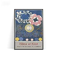 Hilma Af Klint ヒルマアフクリント展ポスター1980年スウェーデンのアートパネルワークポスタープリント抽象壁アートパネル有名な絵画インテリア家の装飾キャンバス写真40x60cmフレームなし paintingZ42