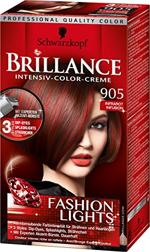Brillance Intensiv-Color-Creme, 905 Infrarot Infusion Fashion Lights, 3er Pack (3 x 143 ml)