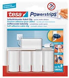 tesa Powerstrips kabelclip, wit, 5 stuks