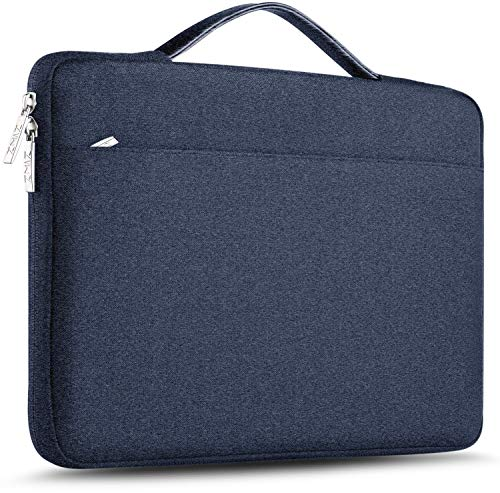 ZINZ Laptop Sleeve 15 15.6 16 Inch Case Briefcase, Compatible MacBook Pro 16 15.4 inch, Surface Book 2/1 15' Super Slim Spill-Resistant Handbag for Most Popular 15'-16' Notebooks, Blue