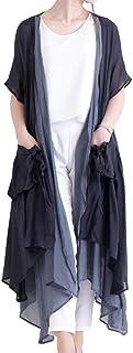 [サワ アラモード] カーディガン レイヤード 半袖 アシメ レディース mode-5193 F グレー
