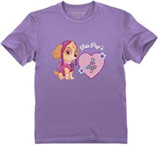 Official Paw Patrol Skye 4th Birthday Toddler Kids T-Shirt