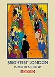 World of Art Vintage London Underground The Brightest