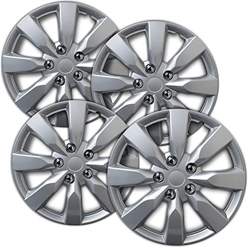 16 inch Hubcaps Best for 2014 2019 Toyota Corolla Set of 4 Wheel Covers 16in Hub Caps Silver product image
