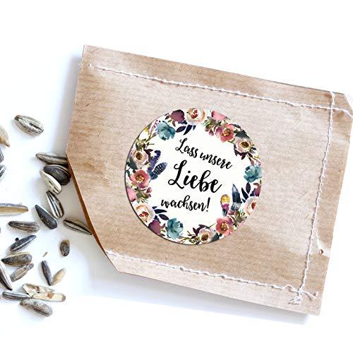 Nastami 50 Sticker Hochzeit Lass unsere Liebe wachsen Gastgeschenk Hochzeit (Boho Hochzeit)
