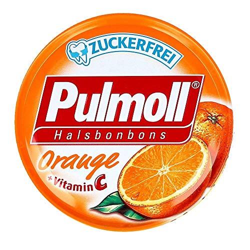 PULMOLL Pastillen Set mit Orange Zuckerfrei-Glutenfrei-Laktosefrei Vegan 10x45gr