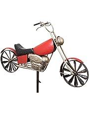 Colourliving windspel motorfiets chopper cruiser metalen winwiel 2 windwielen kogellager