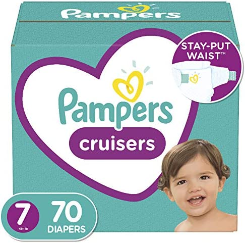 Diapers Size 7 70 Count Pampers Cruisers Disposable Baby Diapers Enormous Pack Packaging May product image