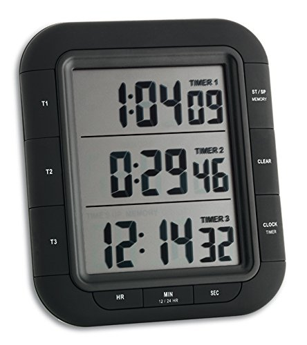 TFA-Dostmann 38.2023 - Timer Digitale a 3 Display, Dimensione Grande