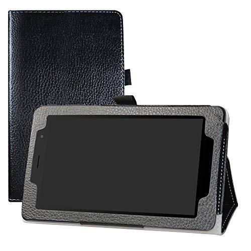 LFDZ Alcatel 1T 7 inch Hülle, Schutzhülle mit Hochwertiges PU Leder Tasche Hülle für 7